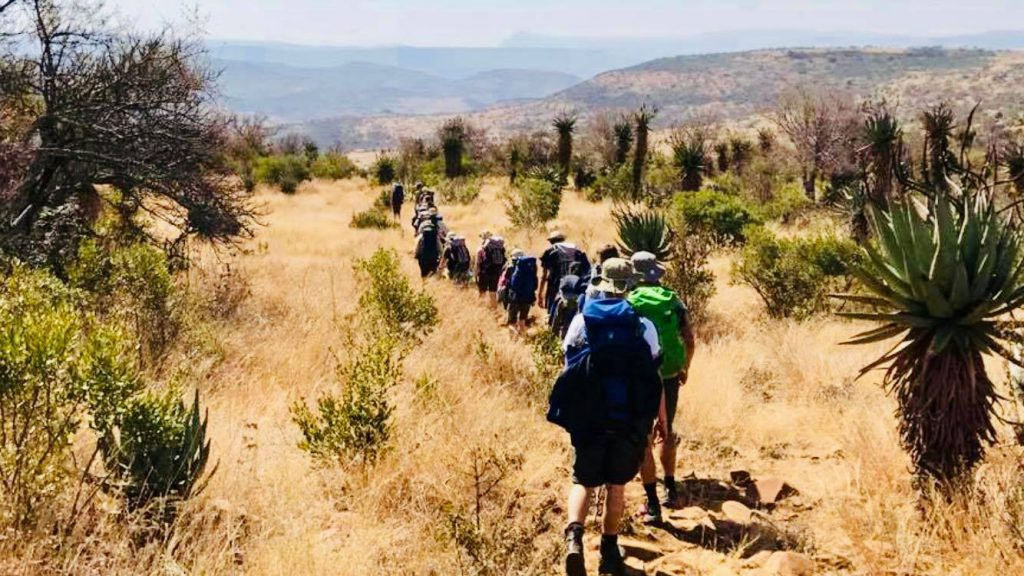 Footwear Essentials Blog - Group of hikers walking through the bush