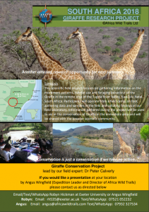 South Africa Giraffe Conservation 2018 Project