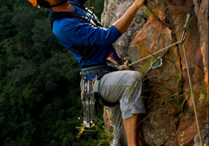Image of Gavin Raubenheimer during a climb